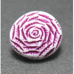 Bouton rose violet 10 mm  b62