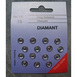 Bouton 15 pressions nickel 7 mm