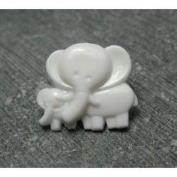 Bouton éléphant blanc 16 mm