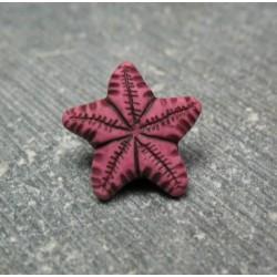 Bouton étoile de mer corail 12 mm