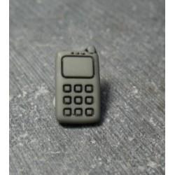 Bouton portable gris noir 14 mm