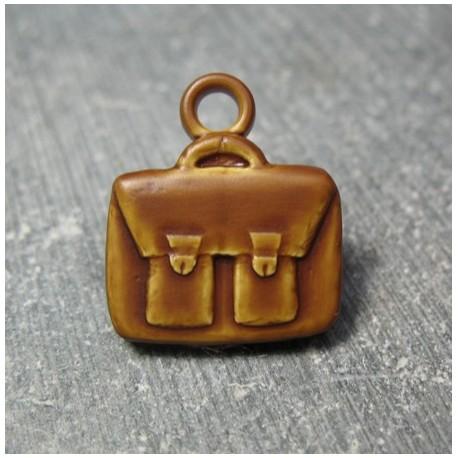 Pendentif cartable marron 16 mm