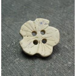 Bouton coco fleur blanchie 18 mm