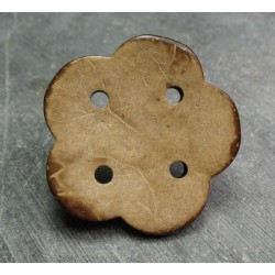 Bouton coco fleur 43 mm