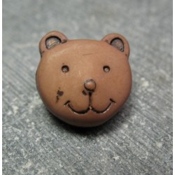 Bouton ours brun 14 mm