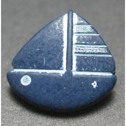 Bouton voilier bleu marine 15 mm b41