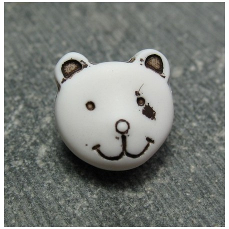 Bouton ours blanc 11 mm