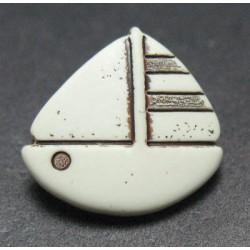 Bouton voilier écru 15 mm b41