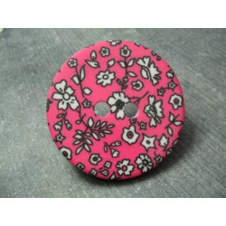 Bouton liberty style fuschia 45 mm
