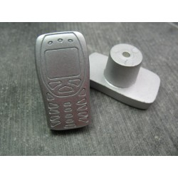 Poignée tiroir portable gris 36 mm