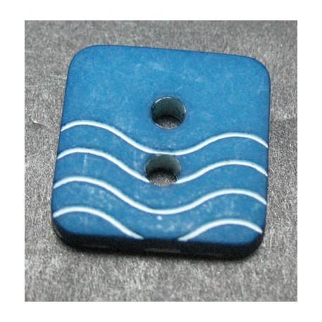 Bouton vague bleu petrole  12 mm  b41