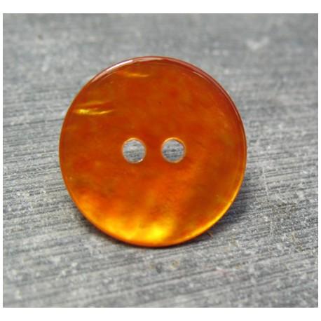 Bouton nacre orange 18 mm