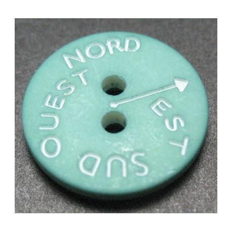 Bouton NSEO vert d eau 15 mm b61