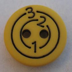 Bouton 123 jaune 13 mm b6