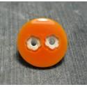Bouton 2 trous fleur orange 18 mm