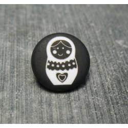 Bouton poupée russe noir 15 mm