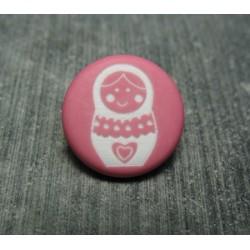 Bouton poupée russe rose 15 mm