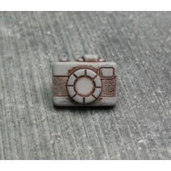 Bouton appareil photo gris clair 13 mm