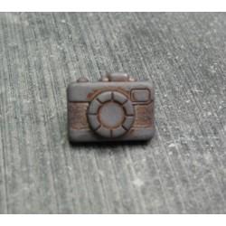 Bouton appareil photo gris fonçé 13 mm