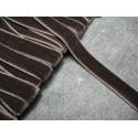 Ruban velours élastique marron 10 mm
