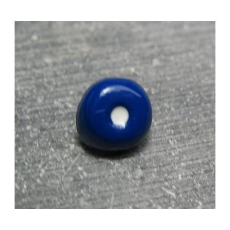 Bouton oeil marine blanc 10 mm