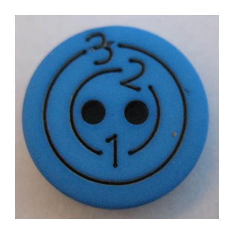 Bouton 123 bleu vif 15 mm b6