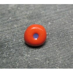 Bouton oeil orange prune 10 mm