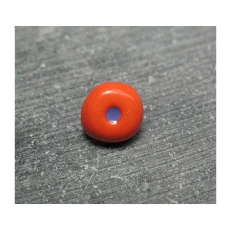 Bouton oeil orange prune 10 mm