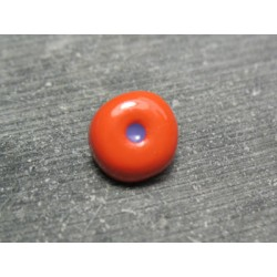 Bouton oeil orange prune 12 mm