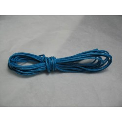 Coton ciré turquoise 1,5 mm