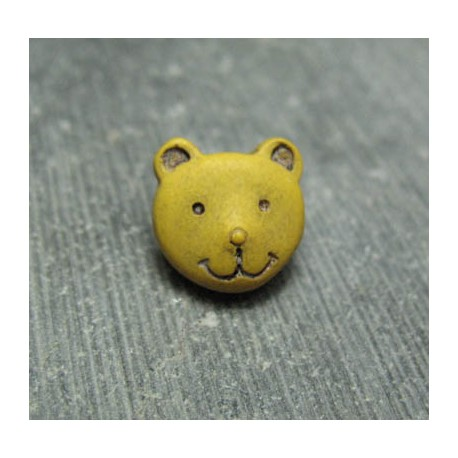 Bouton ours ocre 11 mm