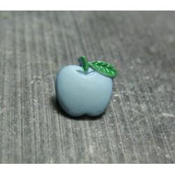 Bouton pomme bleu 10 mm