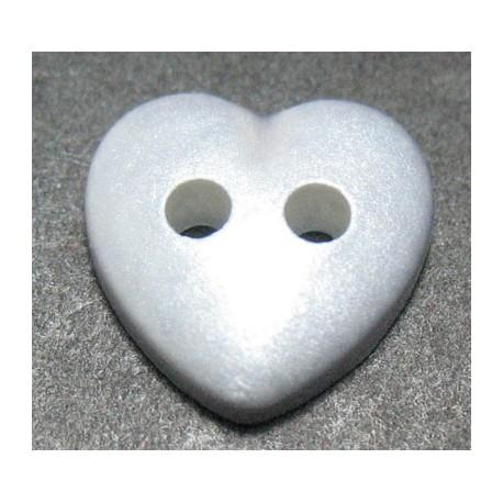Bouton coeur gris 10 mm b14