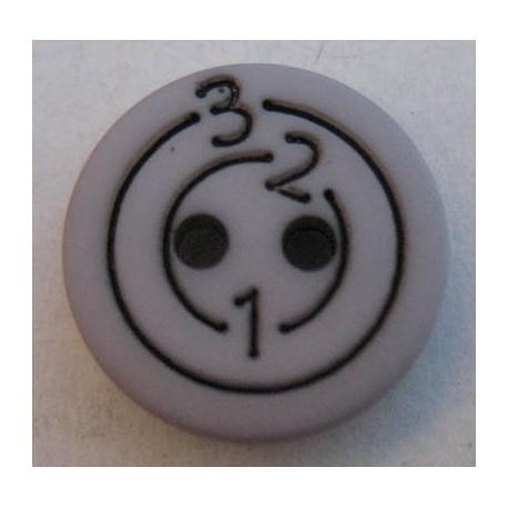 Bouton 123 gris 13 mm b6