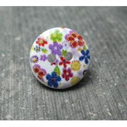 Bouton bois fleur 15 mm