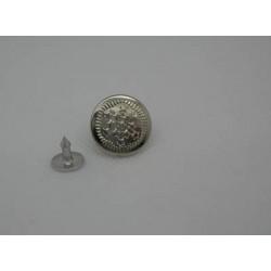 Bouton jean étoile argent 17 mm