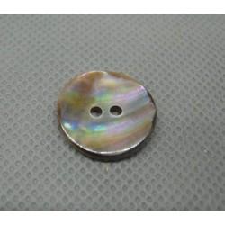 Bouton nacre ancienne irisé 18 mm