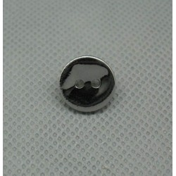Bouton nacre effet miroir 13 mm