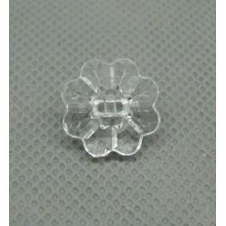 Bouton fleur translucide 15 mm