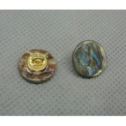 Bouton nacre ormeau à pied 12 mm