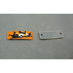 Plaque race car 22 x 7 mm