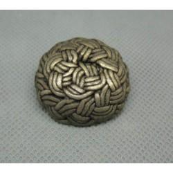 Bouton entrelas métallisé vieil or 30 mm