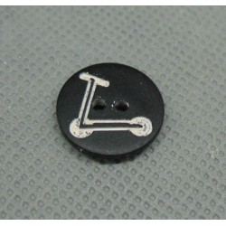 Bouton trotinette noir 15mm