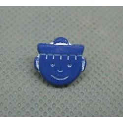 Bouton marin bleu fonçé 12mm