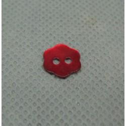 Bouton nacre fleur rouge 10mm