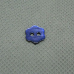Bouton nacre fleur violet 10 mm