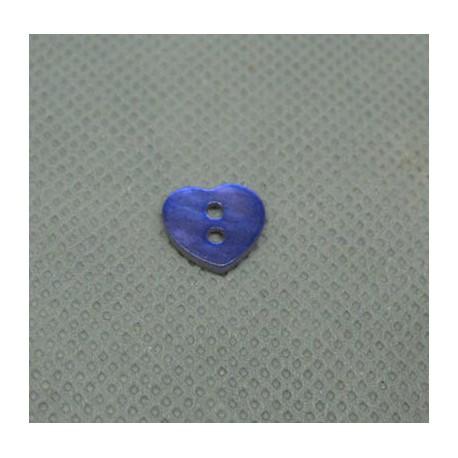 Bouton nacre coeur 10 mm