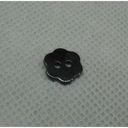 Bouton nacre fleur noir 10mm