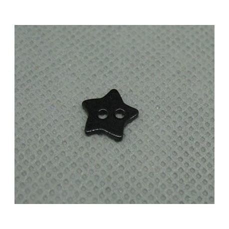 Bouton nacre étoile noir 10mm