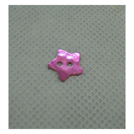 Bouton nacre étoile lilas 10mm